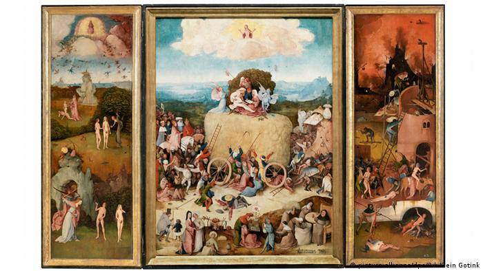 Hieronymus Bosch triptych De Hooiwagen