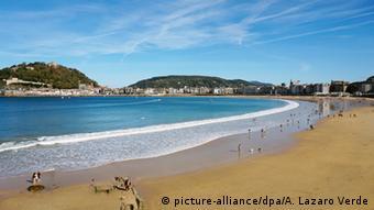 Der Strand La Concha in San Sebastian, Foto: Ana Lázaro Verde/dpa