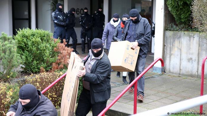Raid on Muslim association Mesdschid Sahabe