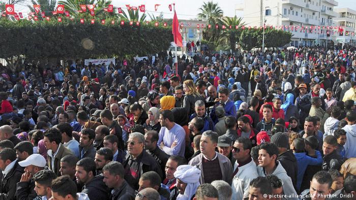 Митинг жителей Туниса по случаю пятой годовщины начала арабской весны, 17 декабря 2015