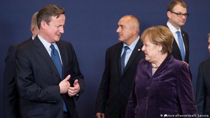 Brüssel EU-Gipfel Merkel Cameron