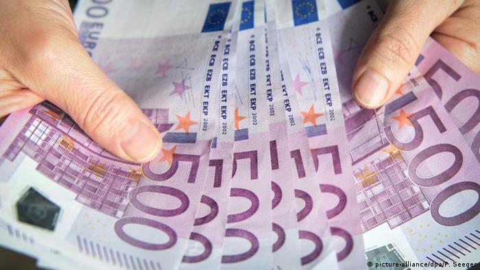 Купюры достоинством в 500 евро