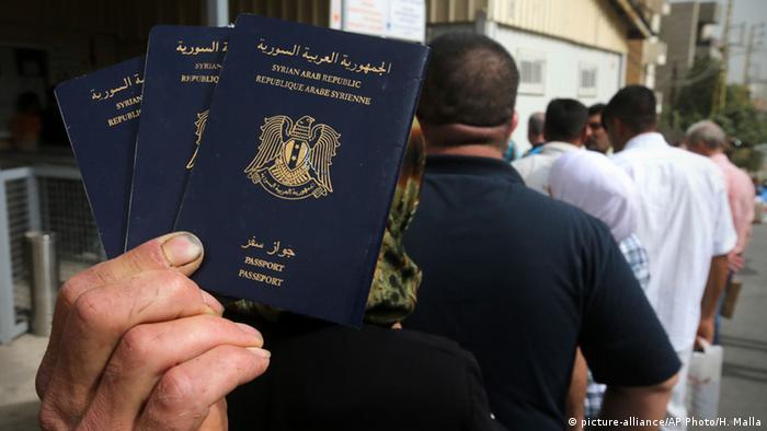 Syrische Pässe Visum Visa Pass