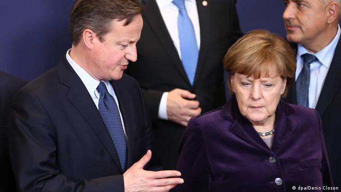 Premier Cameron und Kanzlerin Merkel (Foto: dpa/Denis Closon)