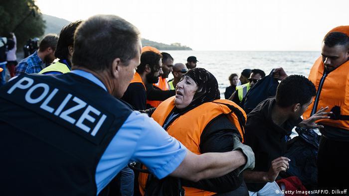Griechenland Frontex Küstenwache bei Lesbos