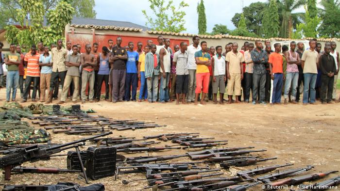 A cache of weapons and suspected rebels