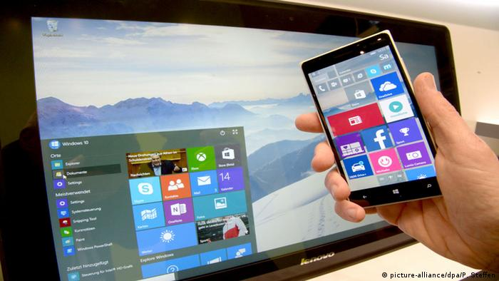 Betriebssystem Windows 10 Microsoft (picture-alliance/dpa/P. Steffen)