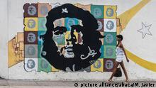 Kuba Havanna Tourismus Graffiti Che Guevara