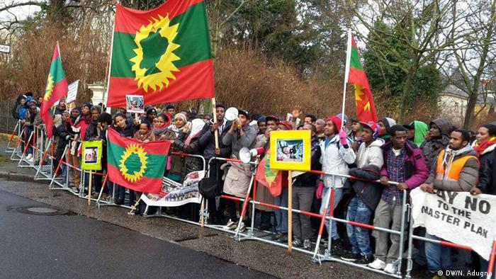 Deutschland Oromo Demonstration Berlin
