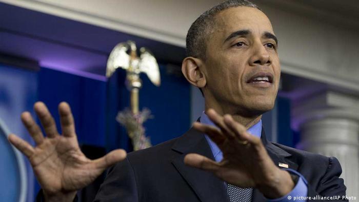 US-Präsident Obama in seiner Pressekonferenz zum Jahresende