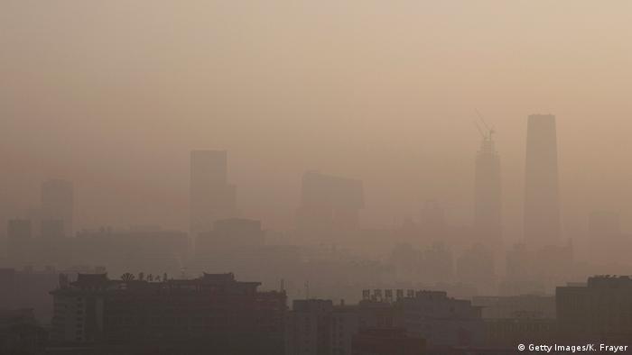 Смог над Пекином (Китай), декабрь 2015 г.