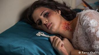 Στιγμιότυπο από καμπάνια για την καταπολέμηση της βίας εναντίον των γυναικών