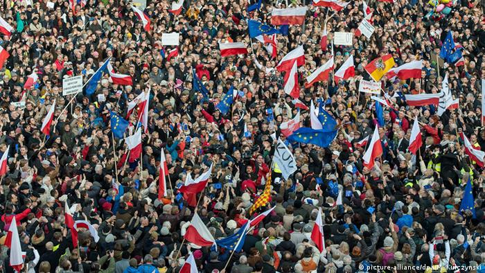 Polen Demonstration Anti-Regierung
