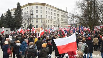 Polen Warschau Demonstration Anti-Regierung