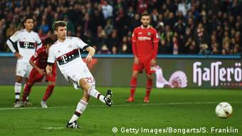 Thomas Müller erzielt das 1:0 (Foto: Stuart Franklin/Bongarts/Getty Images)