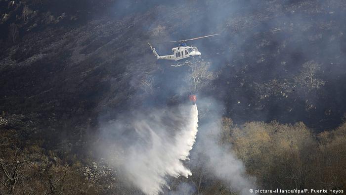 Spanien Waldbrände im Norden des Landes
