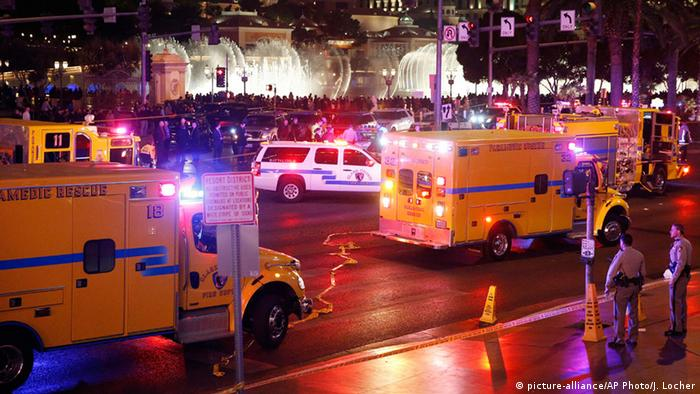 Ambulances on Las Vegas strip