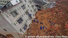China Erdrutsch Shenzhen Helfer Suche