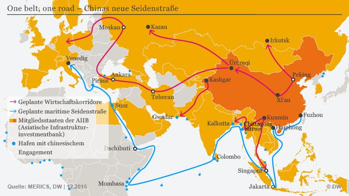 Infografik Chinas neue Seidenstraße Deutsch