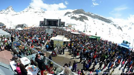 Österreich Top of the Mountain-Konzert in Ischgl