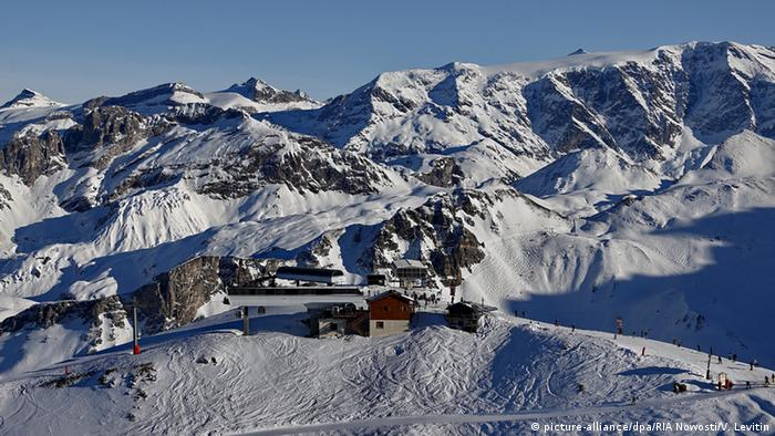 The Three Valleys ski resort in Courchevel. Copyright: picture-alliance/dpa/RIA Nowosti/V. Levitin