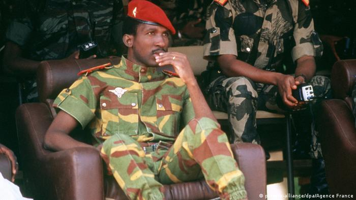 Burkina Faso Päsident Thomas Sankara (picture-alliance/dpa/Agence France)