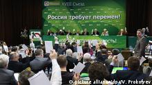 Russland Yabloko Kongress in Moskau