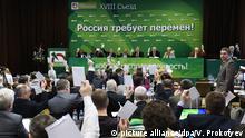 Russland Yabloko Kongress in Moskau