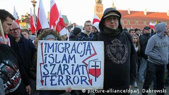 Demonstration der rechtsextremen Partei Nationale Bewegung in Warschau