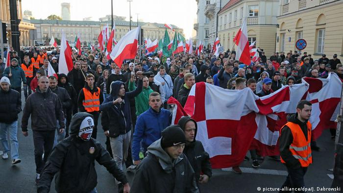 The National Movement demonstrated in October 2015 Warsaw against immigration