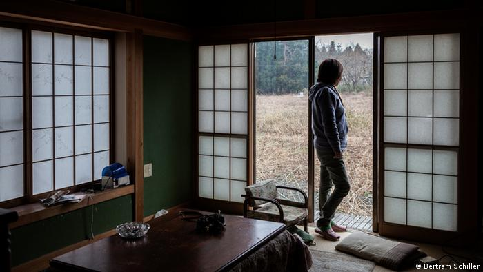 Namie-machi Präfektur Fukushima Frau Suzuki verlassenes Haus