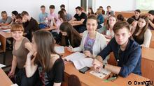 Ukraine Studenten der Technischen Universität Donezk