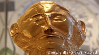The golden mask that was formerly presumed to be Agamemnons