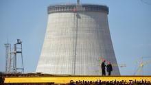 Weißrussland Baustelle Atomkraftwerk Ostrowez