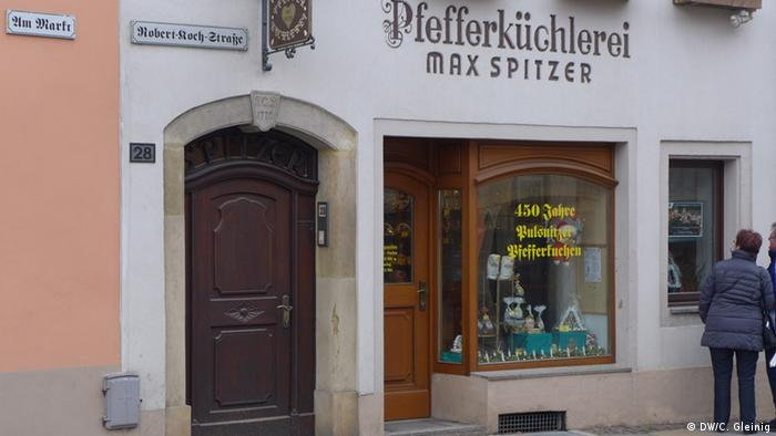 Sachsen Stadt Pulsnitz - Pfefferküchlerei Spitzer