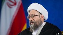 Ayatollah Sadegh Amoli Larijani ist der Chef der iranischen Justiz. Quellen: Fars via Davoud Khodabakhsh, DW Farsi