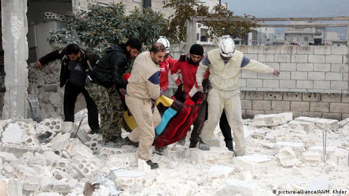 Syrien Russische Luftangriffe (picture-alliance/AA/M. Khder)