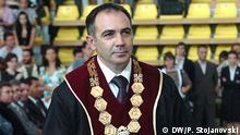 Rektor Prof. Velimir Stojkovski, Universität UKIM (Kiril i Metodij) Skopje, 22.12.2015 Copyright: DW/P. Stojanovski via Zana Aceska, DW Mazedonisch