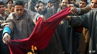 Karikaturenstreit - Proteste in Kaschmir