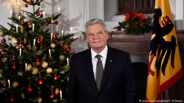 Deutschland Weihnachtsansprache von Bundespräsident Joachim Gauck