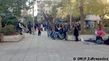 efugees are having to camp out in Athens Victoria Square bitte das bild ins cms stellen Stichwort: Flüchtlingsnot in Athen Copyright: Pavlos Zafiropoulos, DW, Athen Dec 2015. DW/P.Zafiropoulos