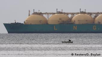 Танкер с СПГ (сжиженным природным газом), по-английски LNG