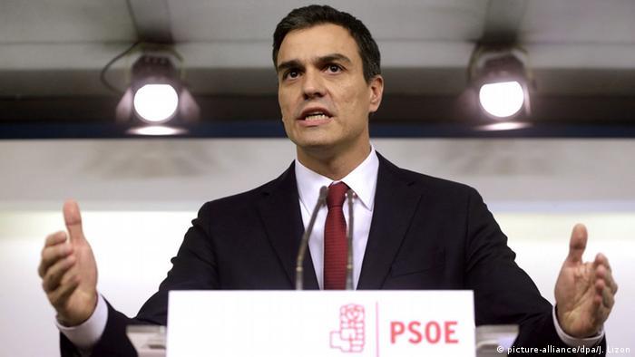 Spanien Generalsekretär PSOE Pedro Sanchez