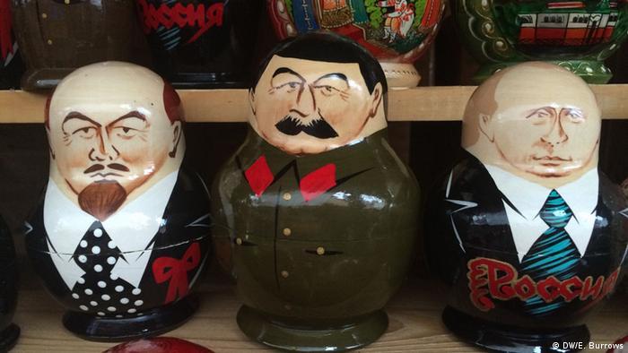 Russland Matroschka Puppen Putin Lenin Stalin