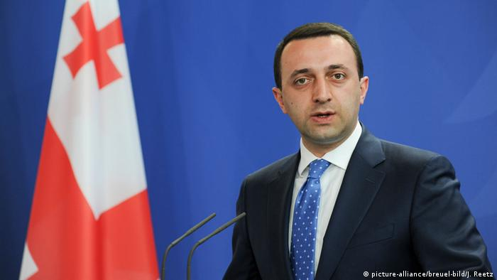 Irakli Garibaschvili, the prime minister of Georgia, hosted a press conference at the Chancellery in June in Berlin