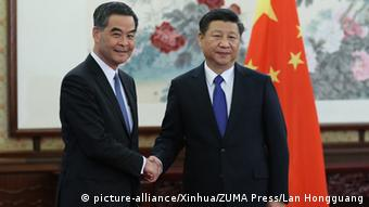 China Premierminister Li Keqiang & Hongkong Leung Chun-ying