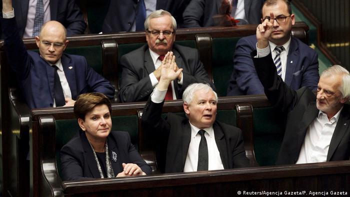 Polen Warschau Parlament Debatte Verfassungsgericht Kaczynski