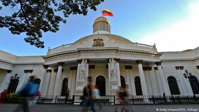 Venezuela Caracas Parlament Asamblea Nacional (Getty Images/AFP/L. Robayo)