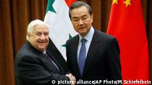 Walid al-Moallem Wang Yi Peking China