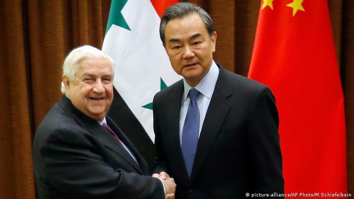 Walid al-Moallem Wang Yi Peking China